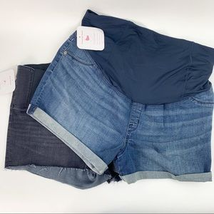 2 New pairs size 18 Isabel Maternity Jeans Shorts